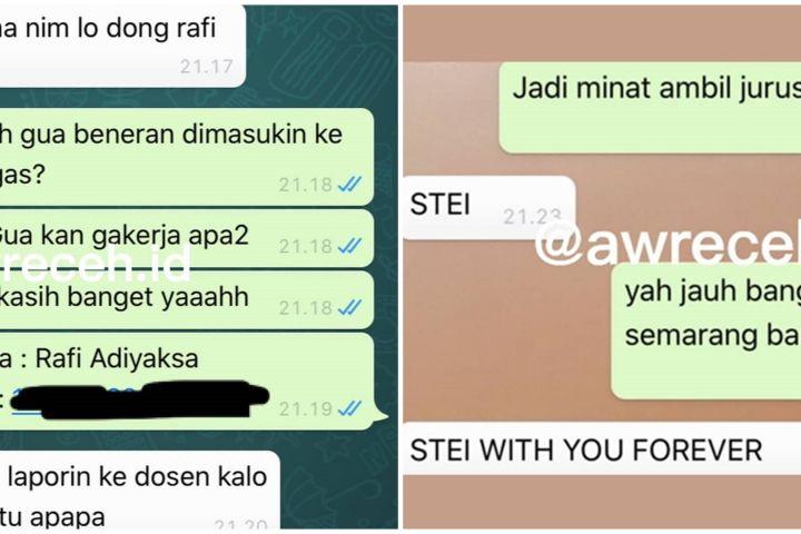 10 Chat WA lucu teman sekelas ini endingnya bikin susah nahan tawa