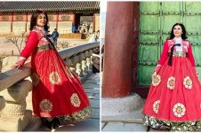 8 Potret Bella Saphira pakai hanbok di Korea, pesonanya terpancar