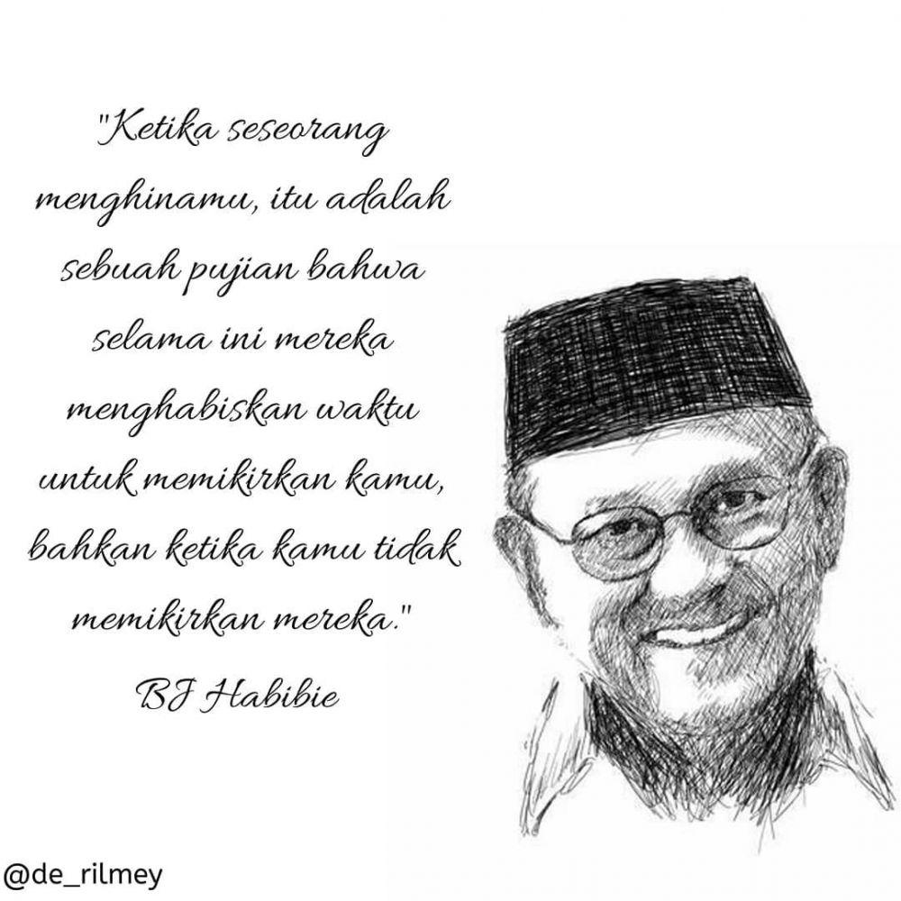 40 Kata-kata quote bijak BJ Habibie, inspiratif banget