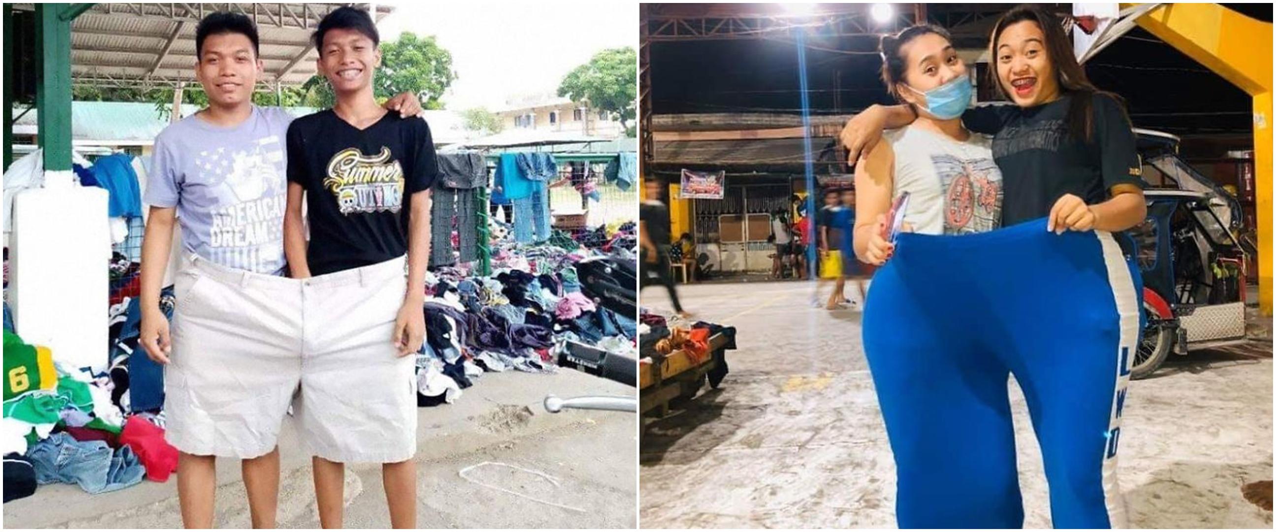 10 Potret pengungsi erupsi Gunung Taal pakai baju sumbangan, seru