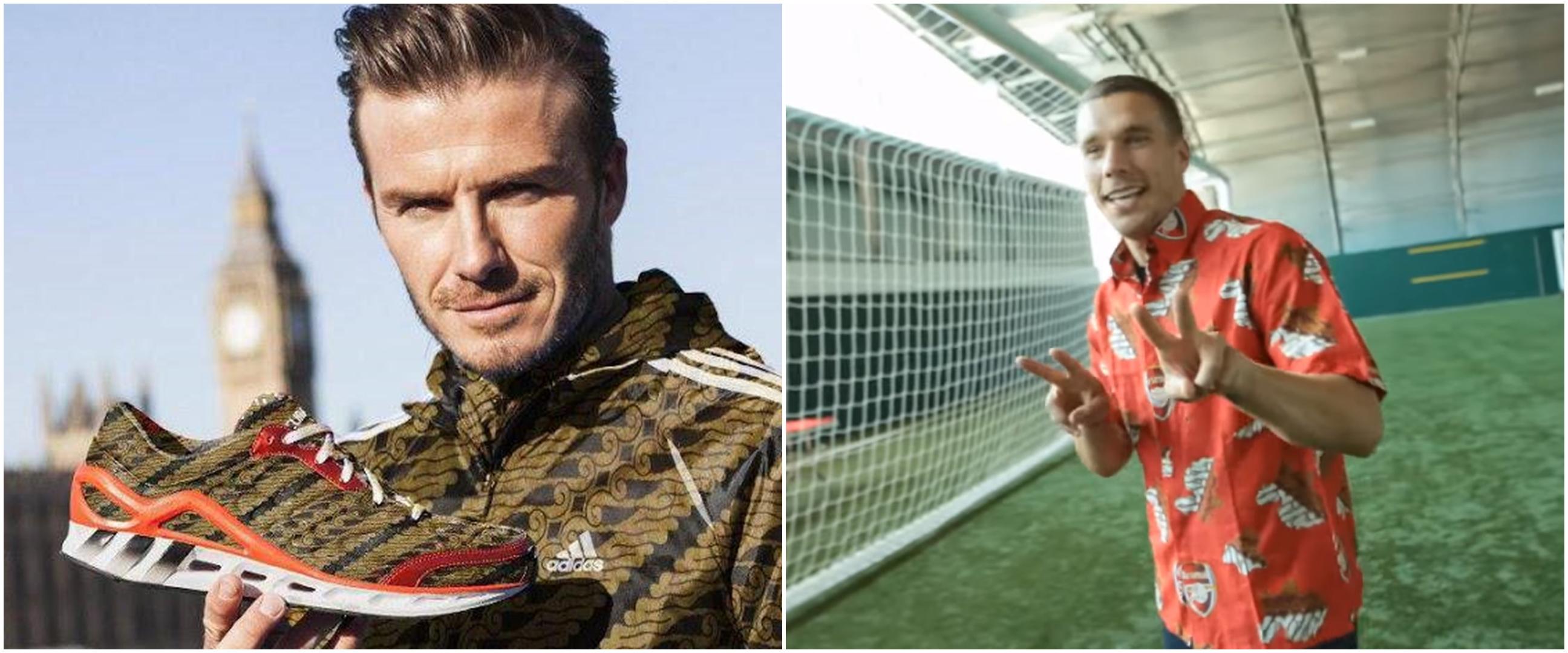 Potret 6 pesepak bola top pakai batik, Zidane hingga Beckham