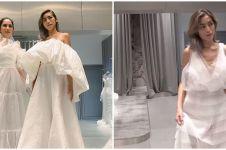 7 Momen Jessica Iskandar fitting gaun pengantin, memesona