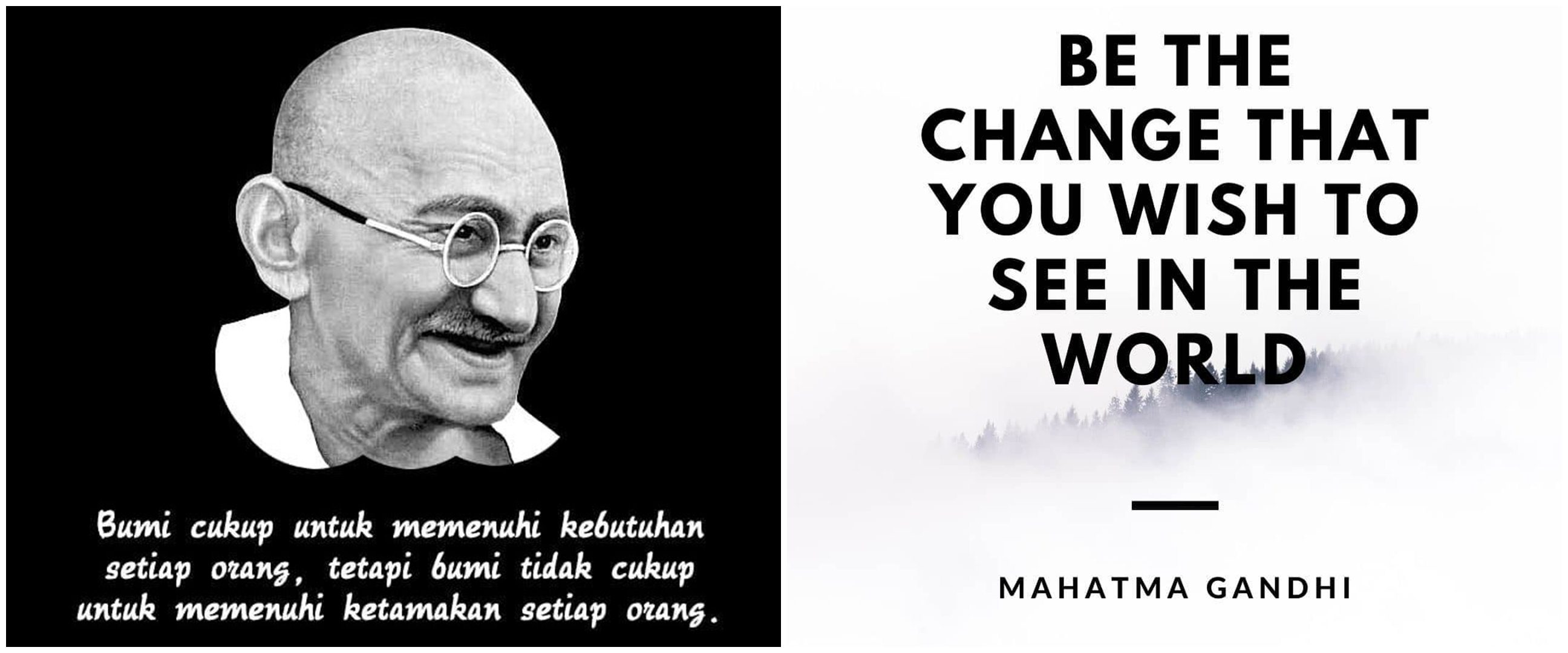 40 Kata-kata quote bijak Mahatma Gandhi tentang kehidupan