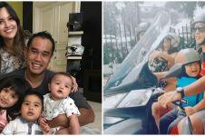 5 Momen Ardi Bakrie ajak 3 anaknya motoran, jadi sorotan