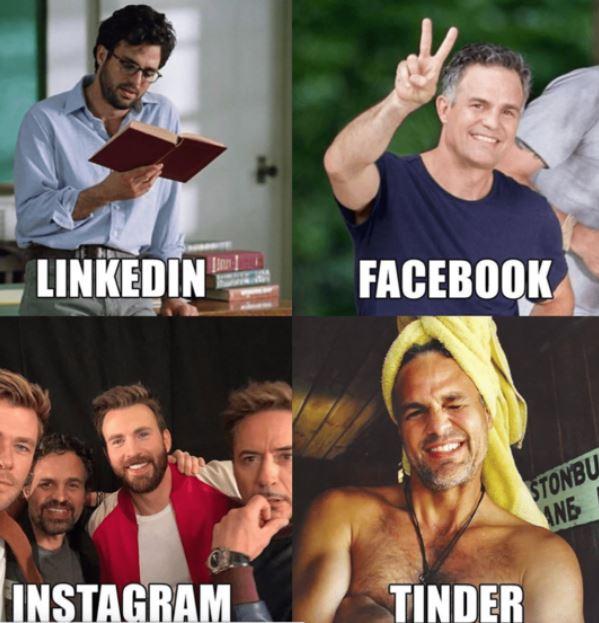 beda profil empat media sosial Istimewa