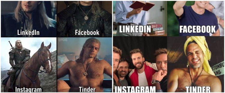 10 Meme beda foto LinkedIn, Facebook, Instagram, & Tinder