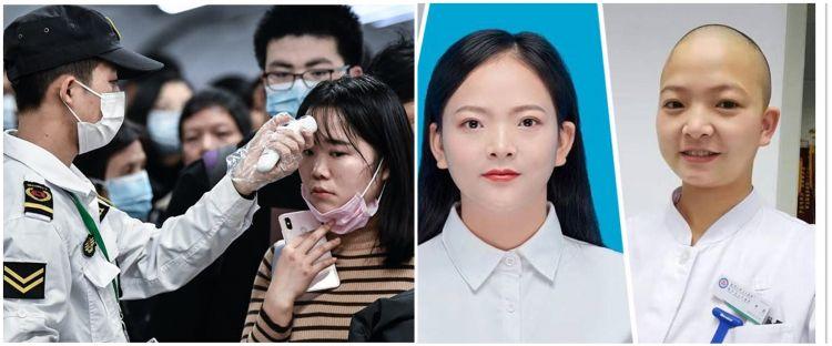 Kisah perawat Wuhan botaki kepala demi cegah infeksi virus Corona