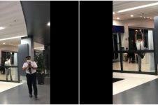 Detik-detik turis China ditahan bandara nyaris terobos pagar kaca
