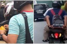 10 Kelakuan absurd orang di jalan raya, bikin tepuk jidat