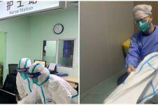 Tim medis tangani pasien virus Corona terpaksa pakai diaper