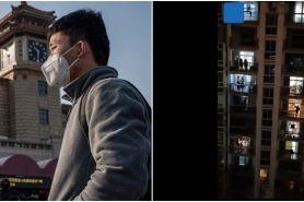 Video detik-detik teriakan warga Wuhan saling beri semangat