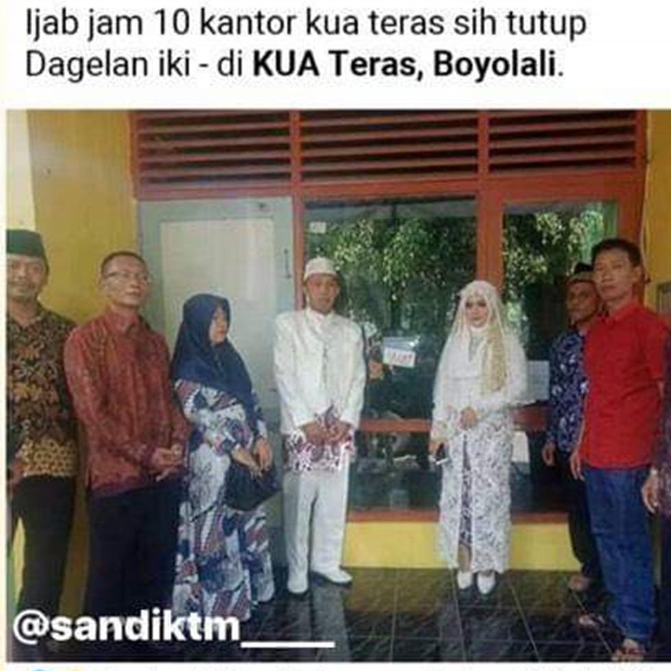 Viral, pengantin ini gagal nikah karena KUA masih tutup