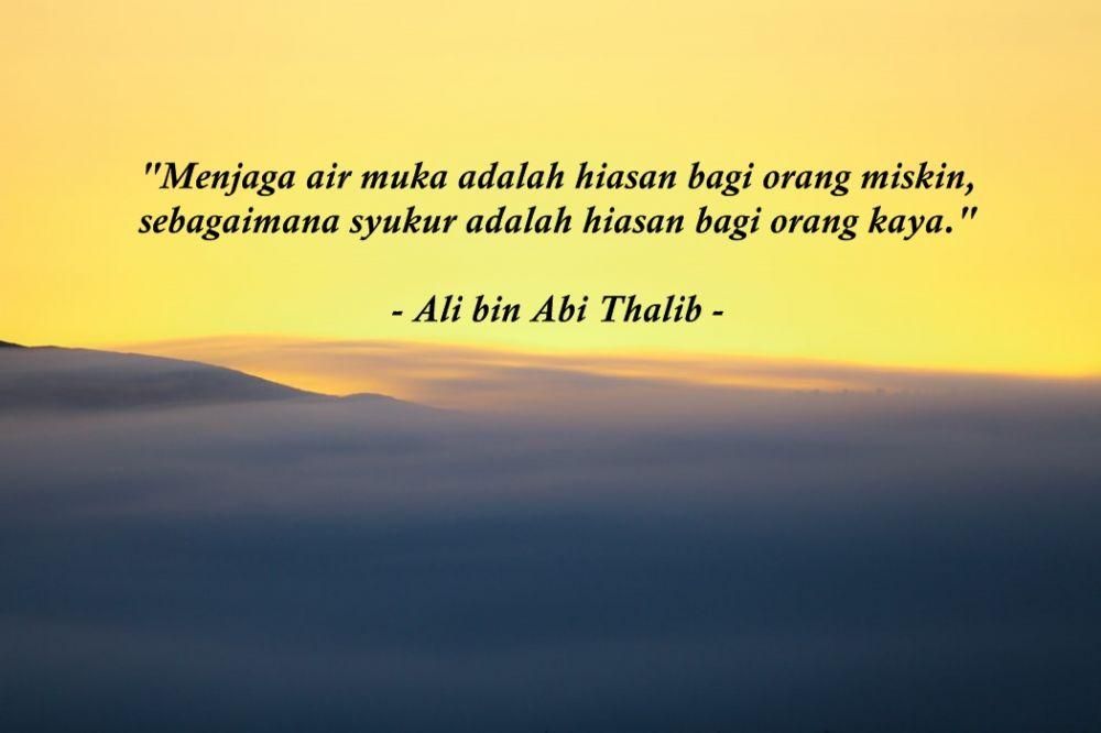 kata kata bijak islami ali bin abi thalib tentang kehidupan