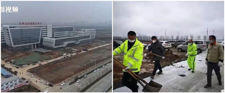 7 Foto rumah sakit Virus Corona di China, dibangun dua hari