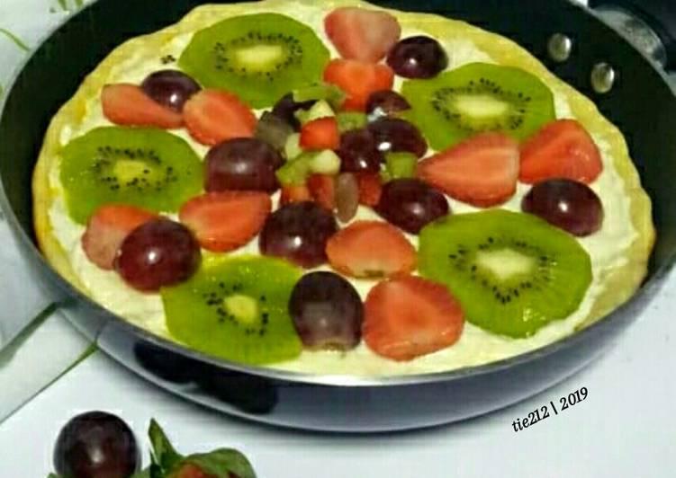 Resep pizza buah © 2020 brilio.net