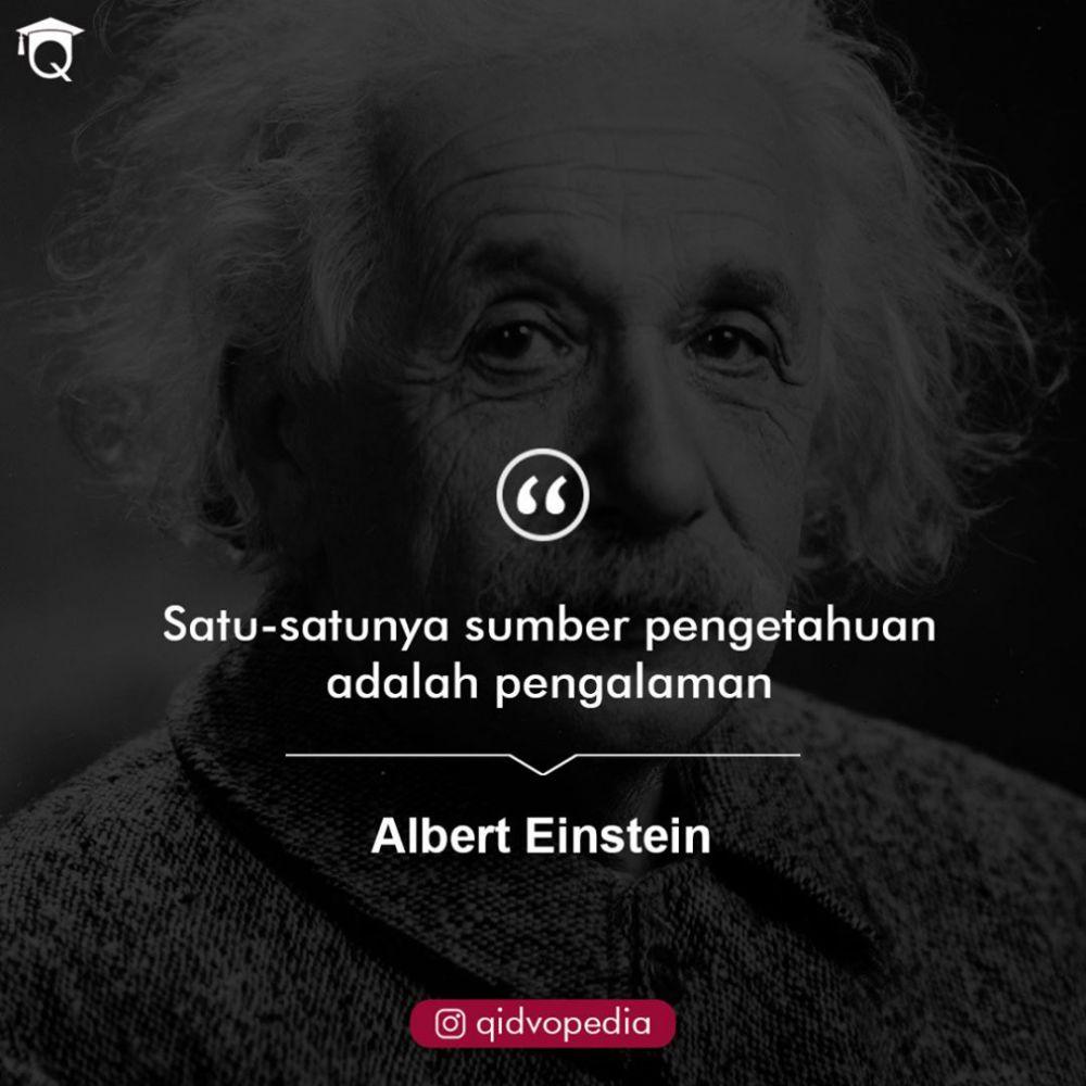 Kata-kata quote Albert Einstein Instagram/@bijakwebid  @visual_quote