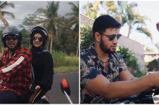 10 Potret Irish Bella & Ammar Zoni touring Bali dengan motor