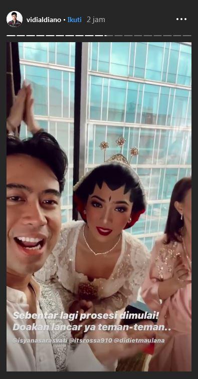 Isyana dan Rayhan akad nikah  Instagram