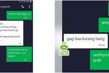 6 Chat lucu penumpang ojek online tawar tarif ini ngeselin