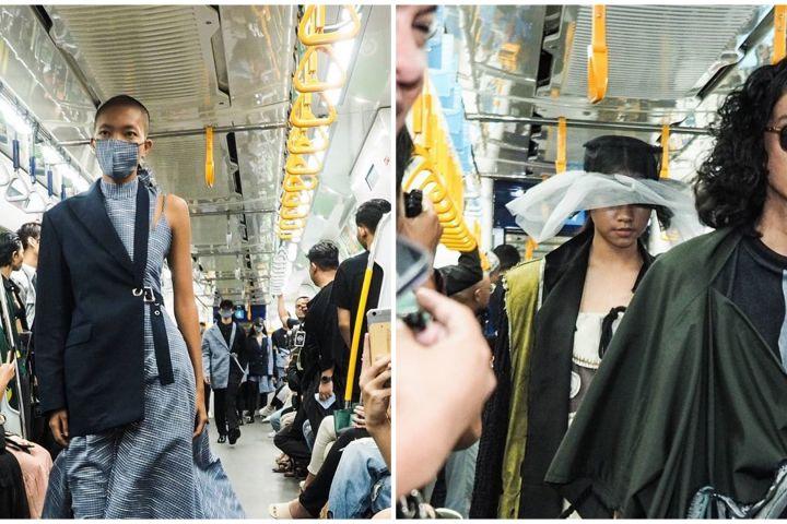Pertama kalinya, tiga desainer ini gelar fashion show di MRT Jakarta
