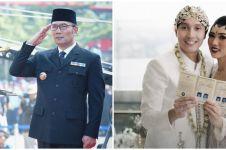 Lirikan Ridwan Kamil lihat Isyana dikecup suami, jadi sorotan