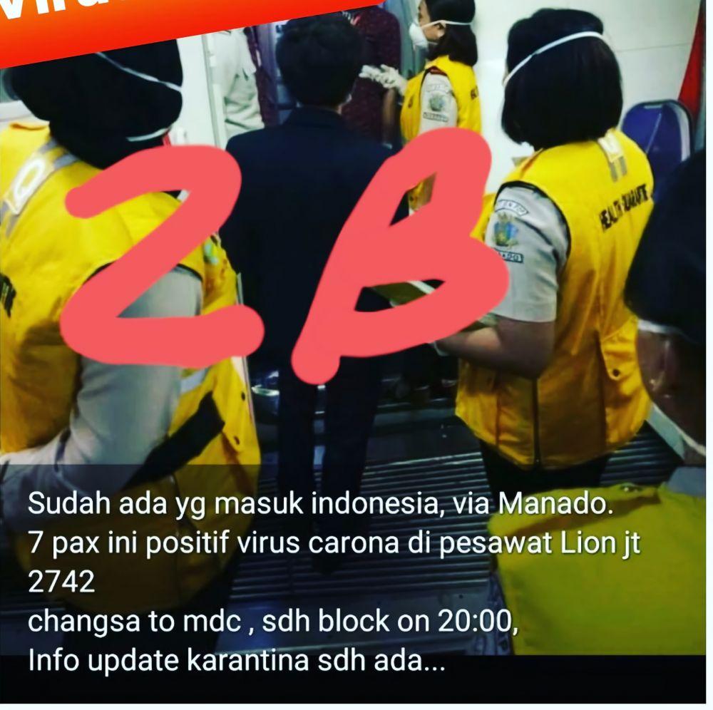 hoaks virus corona foto di indonesia © Twitter/@anjarisme
