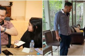 6 Potret Agus Yudhoyono dampingi Aira saat patah tulang, ajari jalan