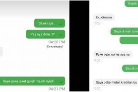 9 Chat lucu penumpang ojek online tanya atribut driver, kocak