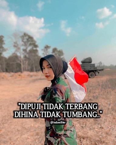 Prajurit TNI cantik  Instagram