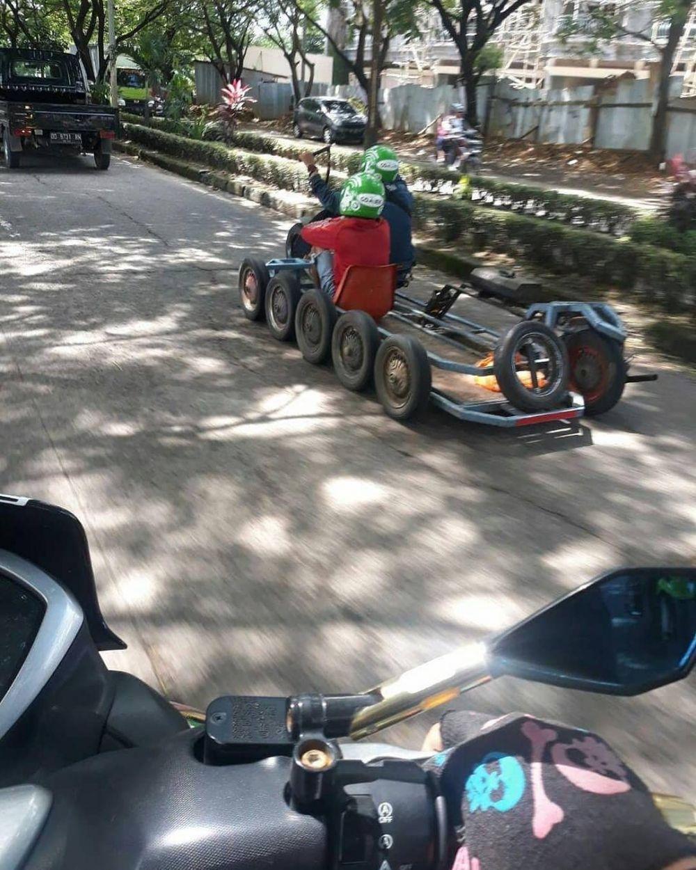 motor unik driver ojek online kocak © 2020 instagram.com