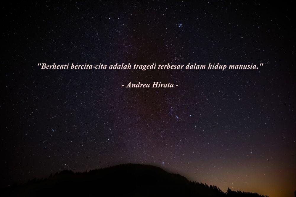 Kata-kata Andrea Hirata © 2020 brilio.net
