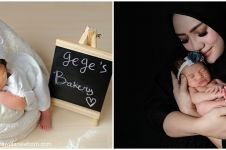 7 Gaya pemotretan newborn anak Yulita MasterChef, gemesin abis