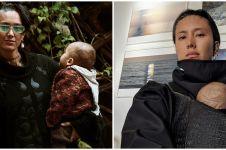 6 Momen Fahrani momong anak, gaya nyentriknya curi perhatian