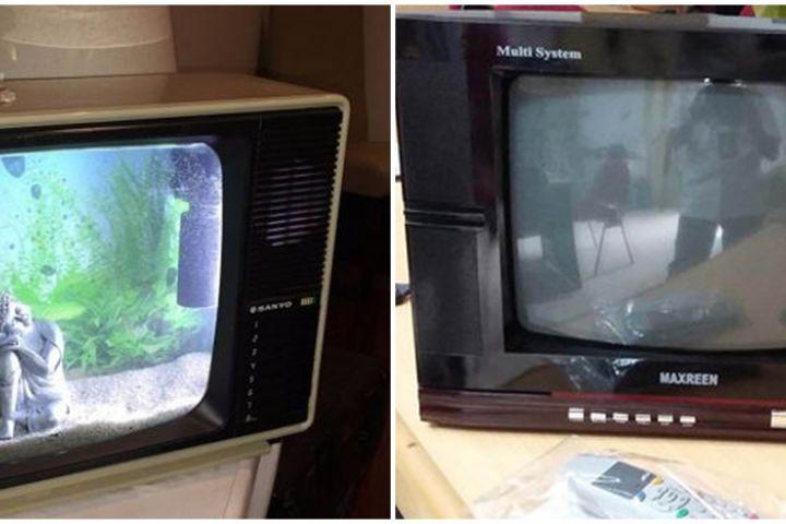 Viral cara nyeleneh ubah TV tabung jadi TV flat, kocak abis