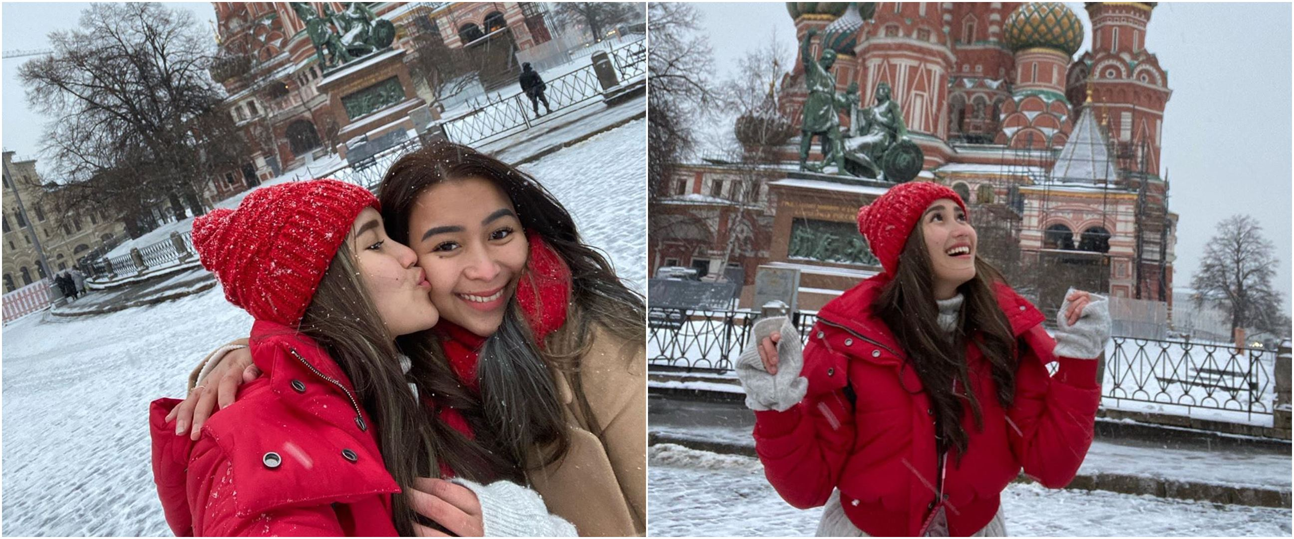 10 Momen Ayu Ting Ting liburan di Moscow, Didi Riyadi nggak ikut?