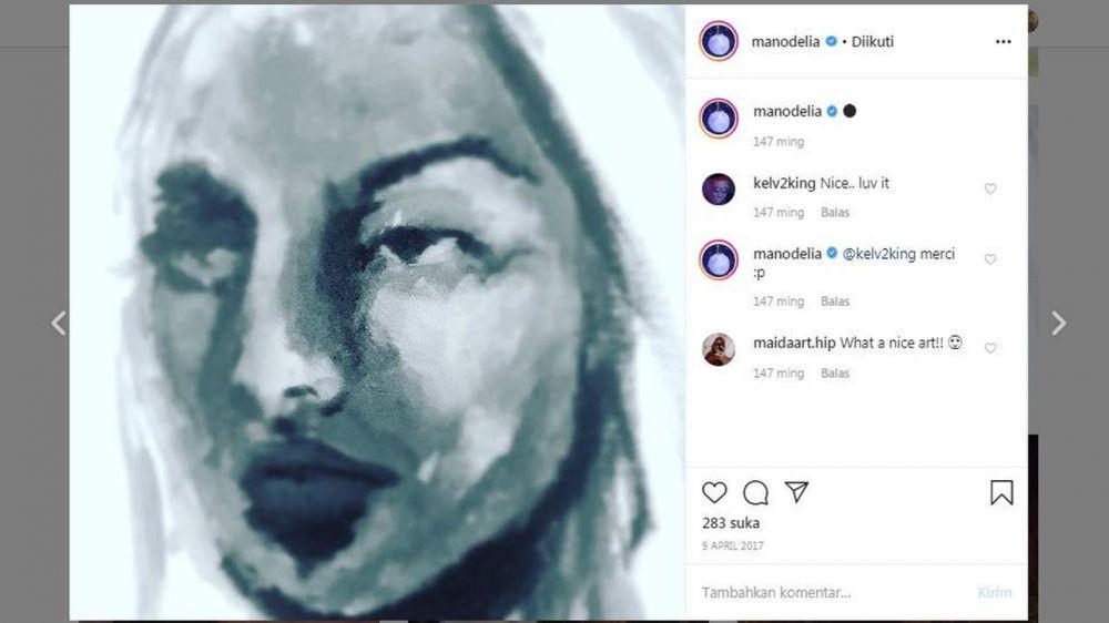 6 Lukisan wanita hasil karya Manohara, curi perhatian © 2020 instagram.com