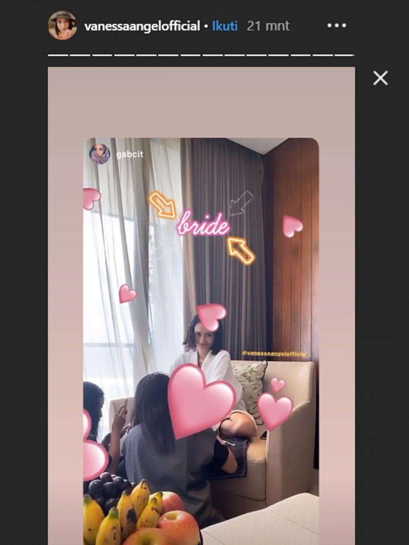 Persiapan resepsi Vanessa Anggel Instagram
