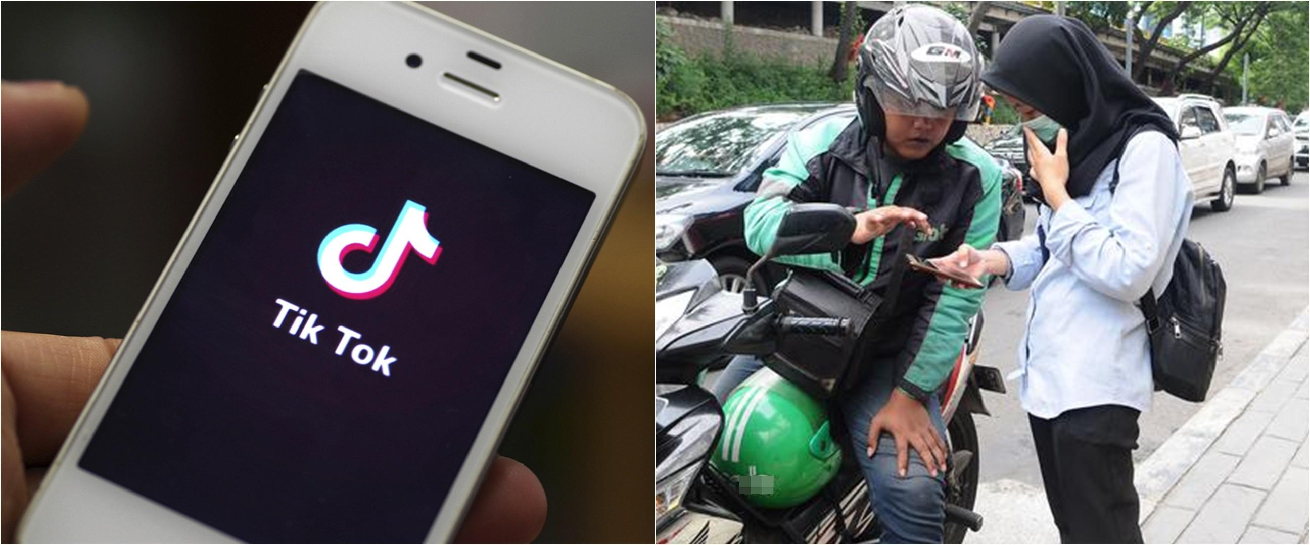 Aksi lucu 8 driver ojek online main TikTok, bikin ikutan goyang