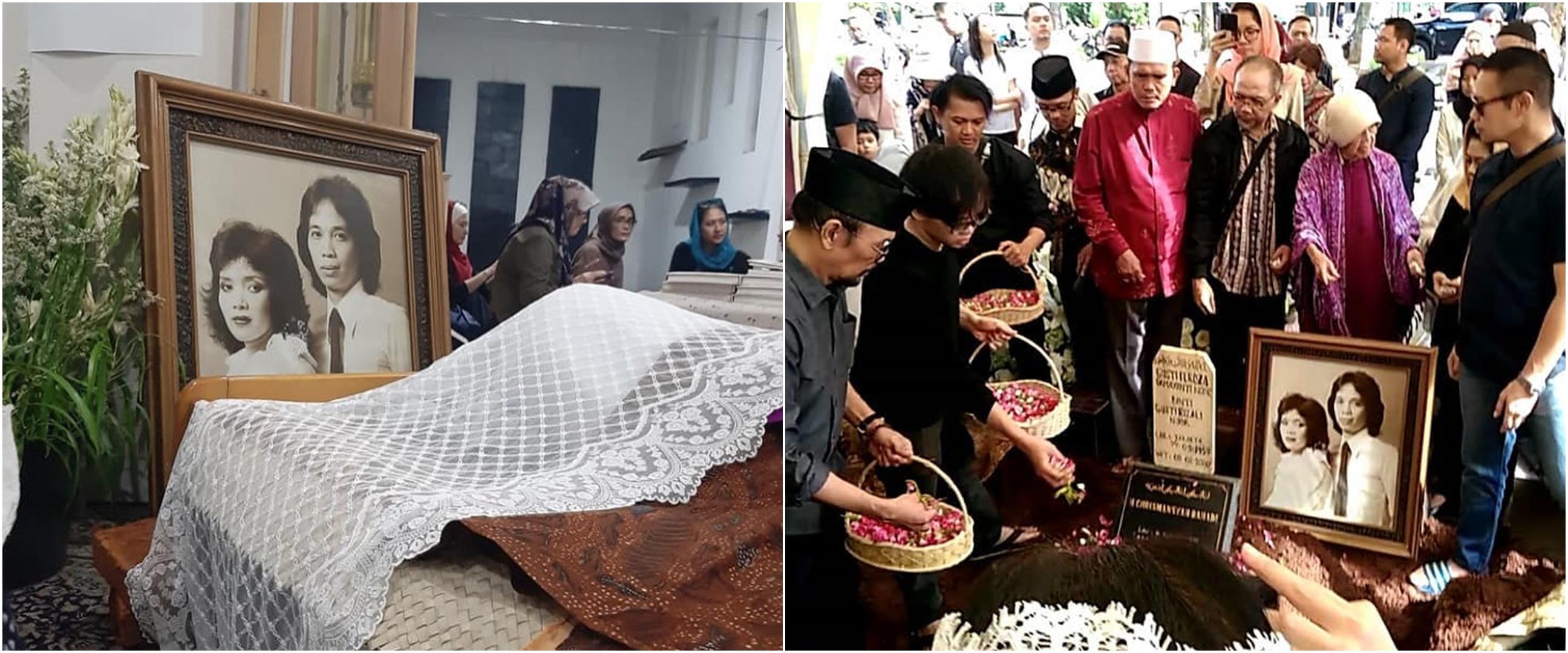8 Momen pemakaman Yanti Noor, dikubur di liang lahat Chrisye