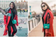 Harga 4 fashion item OOTD Nagita Slavina di Barcelona, bikin melongo