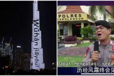 Polisi Indonesia ini beri dukungan untuk Wuhan, diapresiasi China