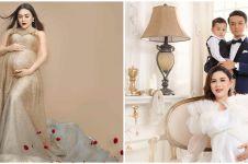 7 Potret maternity anak kedua Vicky Shu, berkonsep modern