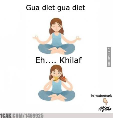 meme lucu gagal diet kocak © 2020 1cak.com