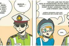 10 Komik strip ketilang polisi kocaknya bikin geleng kepala