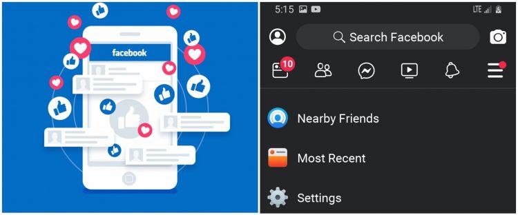 Dark mode muncul di Facebook Lite, salip aplikasi utamanya