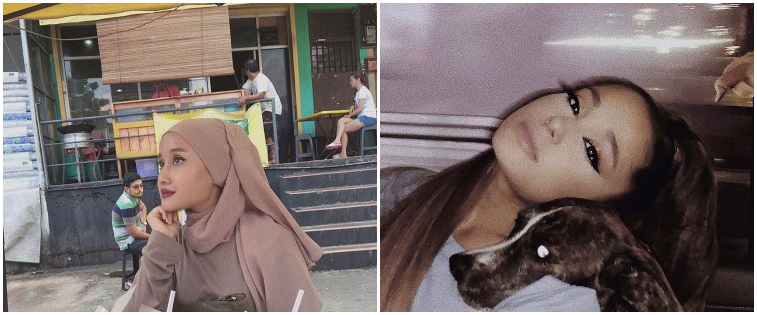 10 Potret Nabila, hijabers viral mirip Ariana Grande