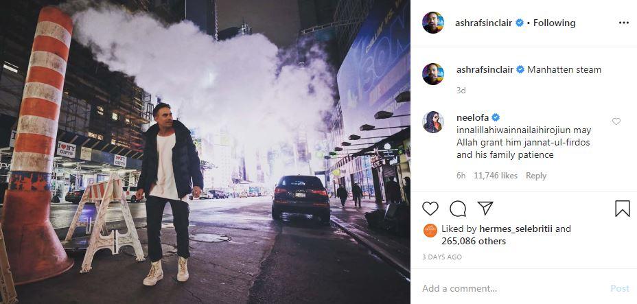 Unggahan terakhir Ashraf Sinclair di Instagram Instagram