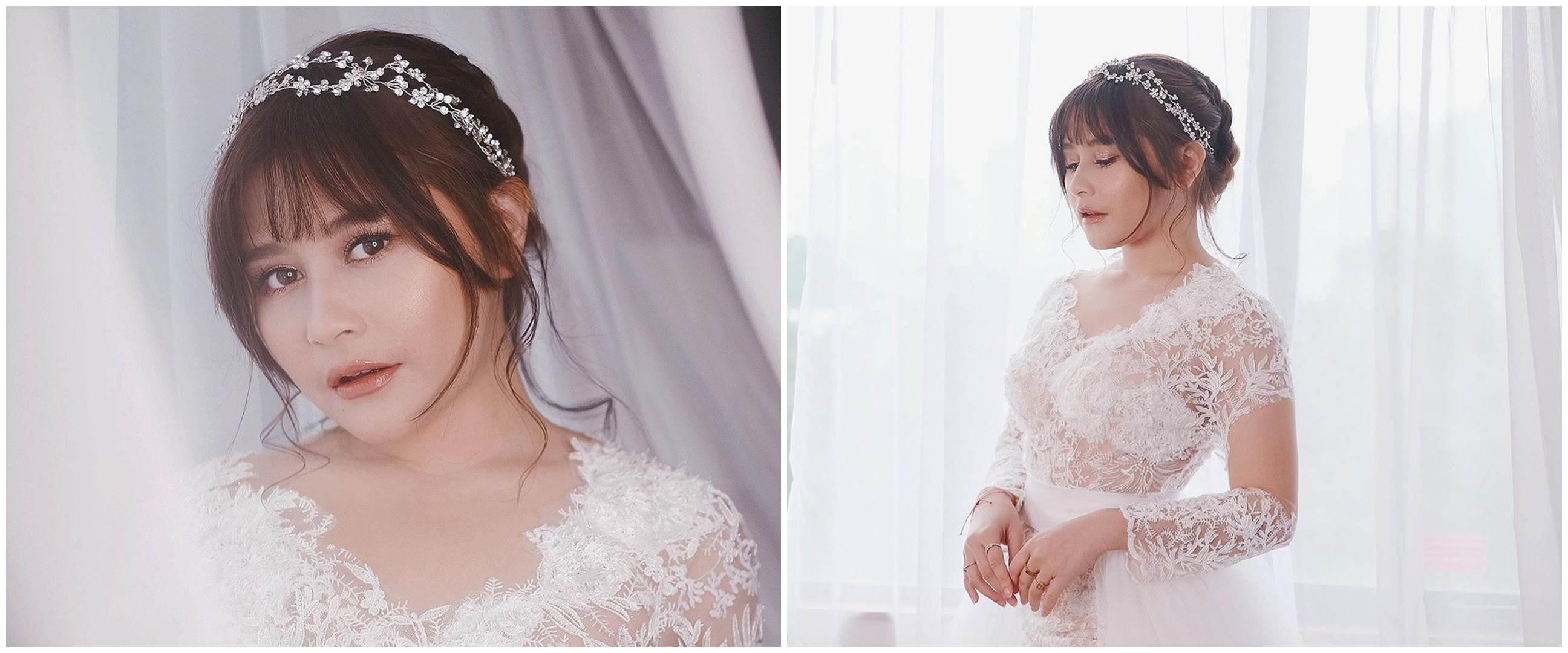 7 Potret Prilly Latuconsina pakai baju pengantin, tuai banyak pujian
