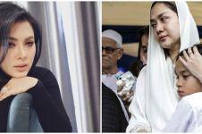 Pelukan hangat Syahrini untuk BCL saat tahlilan Ashraf Sinclair