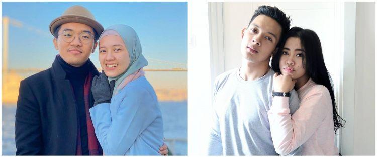 8 Adu gaya pasangan YouTubers Ixora-Meira dan Daffa-Gita, romantis